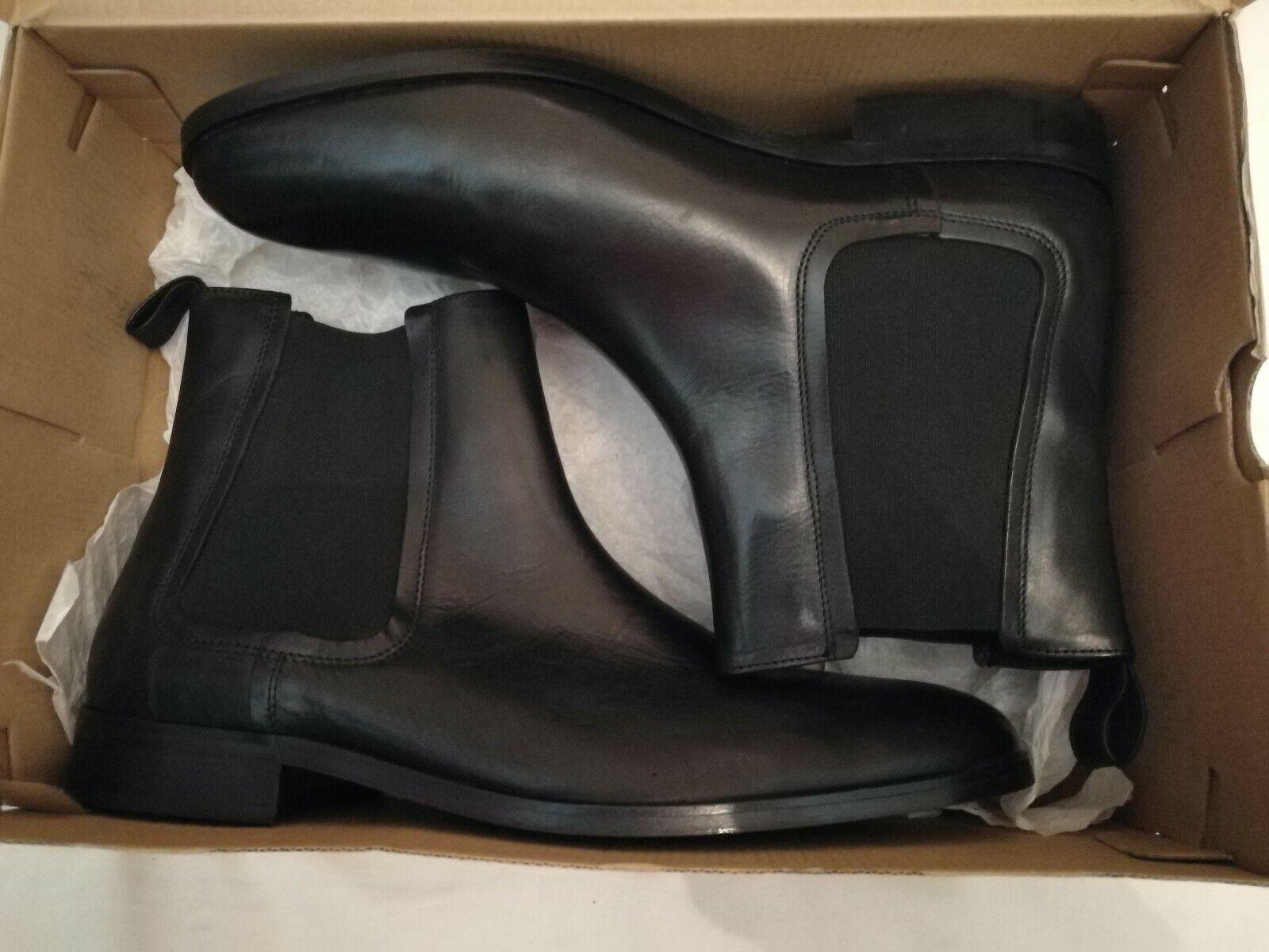 Moss Copenhagen Leather Chelsea Ankle Boots Black Size uk 11 eu 45