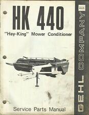 Gehl Company Hay King Mower Conditioner Hk 440 No 620275 Tractor Parts Manual
