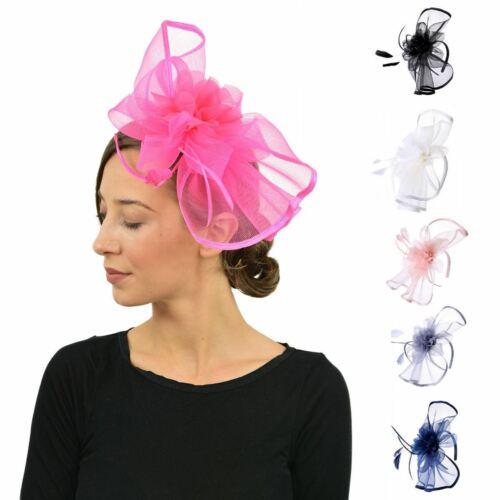 NUOVA Grande Cappello Fascinator con Alice Testa Banda matrimoni donna giorno razza Royal Ascot