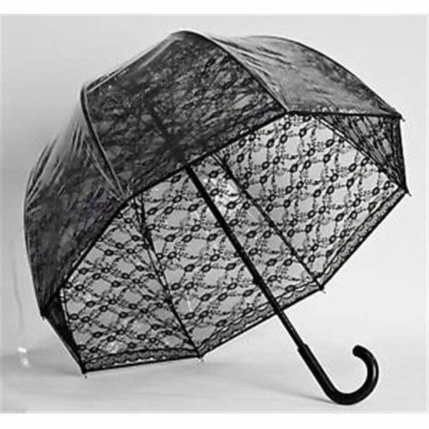 Black Lace Sexy Gothic Goth Trendy Dome Bubble Umbrella