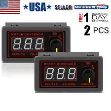 2pcs Motor Speed Controller Pwm Dc 12v 24v 60v 500w Adjustable Speed Regulator