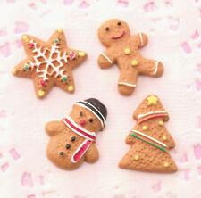 8 X Lindo Galletas Navidad Navidad Adorno KAWAII Artesanía Decoden cabujón