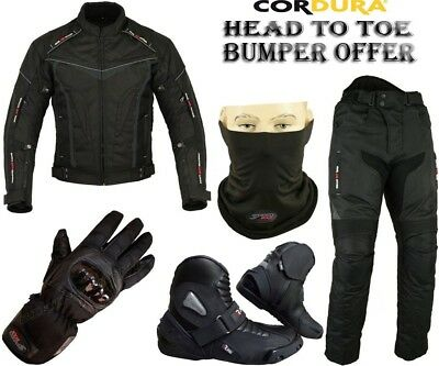 BLACK HAWK MENS CE ARMOUR MOTORBIKE MOTORCYCLE MOTOCROSS TEXTILE JACKET /& GLOVES