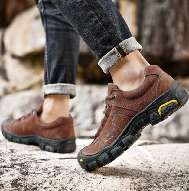 Uomo Comfort Hiking Sport scarpe Pelle Up Lace Up Pelle Round Toe Comfort Uomo   46cd30