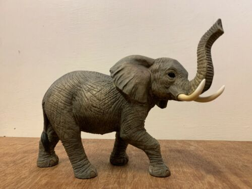 Realistic Leonardo Standing African Elephant Ornament Statue Out of Africa Range