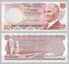 Türkei / Turkey 20 Lira 1974 p187b unz.