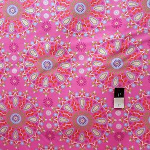 Dena Designs F005 Sunshine Circle Medallion Navy Linen Fabric By Yard