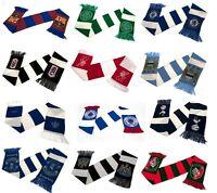 OFFICIAL FOOTBALL CLUB - SCARVES - Bar & Crest Scarf Design - (19 Teams)