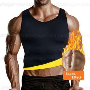 710c7e6b5d Thermo Body Shaper Sauna-Vest Men Gym Fitness Slim Tank Top Waist ...