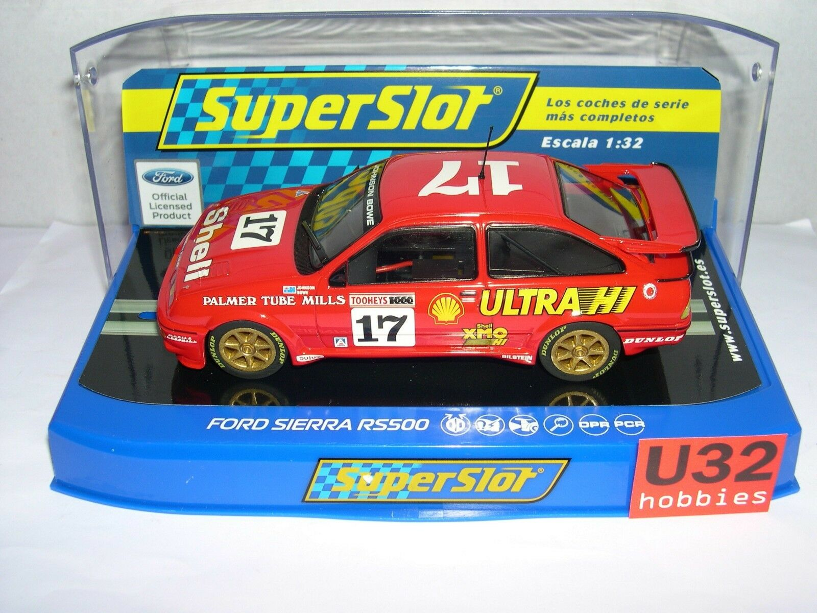 BESTELLUNG H3740 FORD SIERRA RS500  17 DICK JHONSON-JOHN BOWE SCALEXTRIC UK MB