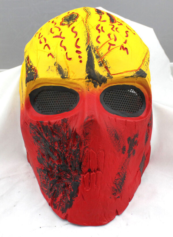 Fiber Resin Wire Mesh Eye Airsoft Paintball Full Face Predection Terror Mask