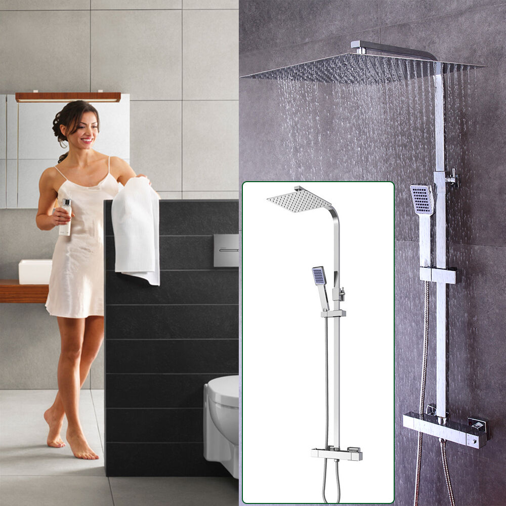 Thermostat Duscharmatur Duschpaneel Regendusche Duschsystem Überkopfbrauseset
