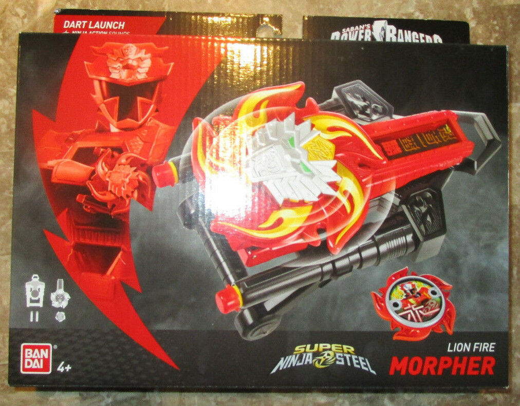 POWER RANGERS SUPER NINJA STEEL LION FIRE MORPHER DX BATTLE GEAR 2018 43904