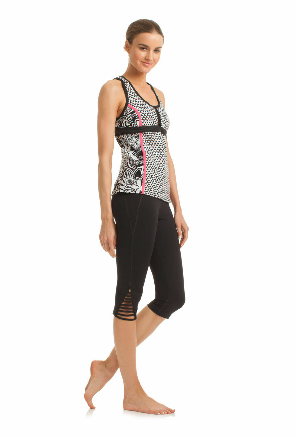 Trina Turk Pop Tropics Workout Tank Recreation Line