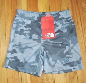 329d7c72a Details about The North Face Boys Gray Camo B Mak Athletic Shorts 4T NWT