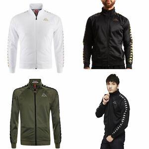 aa47c3d5384 Details about Kappa Anniston Slim 222 Banda Full Zip Fleece Track Top Jacket  White Black Green
