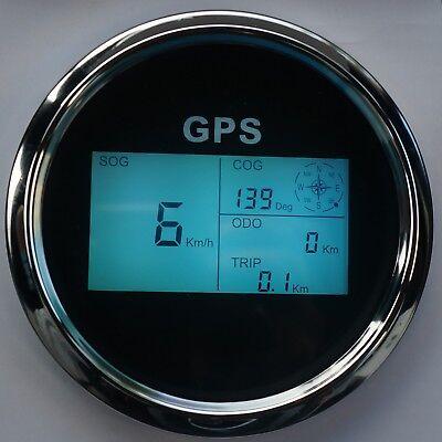 Hell Digital Gps Tachometer Speedometer Sumlog Für Boot Yacht Km/h Kt Mph 85mm