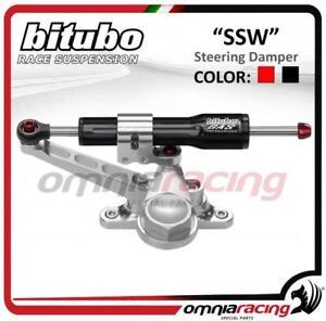 Bitubo Linear Steering Damper under instruments black Kawasaki ZX6R Ninja 07>08