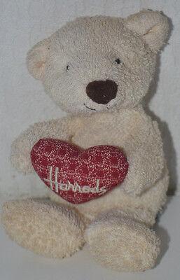 Nuova Moda Raro Ufficiale Harrods Teddy/beanie Orso In Possesso Di Un Amore Cuore/qualità Top-