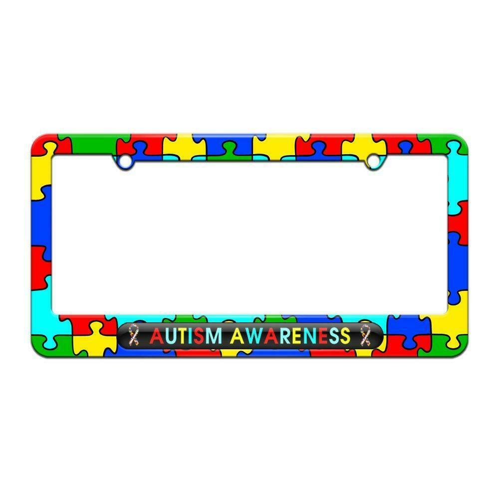 Puzzle Ribbons - License Plate Tag Graphics and More Autism