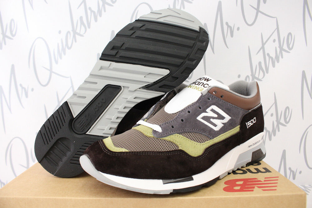 NEW BALANCE 1500 SZ 8-13 MADE IN UK BROWN GREY MILITARY PIGSKIN GREEN M1500BGG