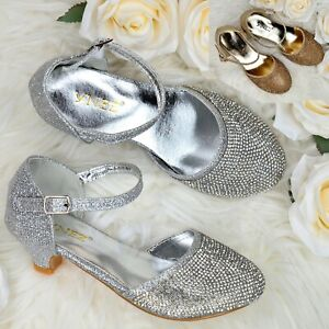 Toddler Girls Sparkly Diamante Sandals