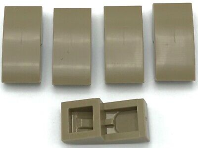 Lego 5 New Dark Tan Slope Curved 2 x 2 Sloped Pieces