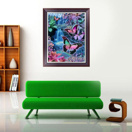 DIY BUTTERFLY RESIN DIAMOND PAINTING CROSS STITCH KIT HOME WALL DECOR ALLURING