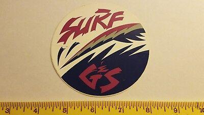Gordon /& Smith G/&S CLASSIC BAR skateboard sticker blue G/&S reissue 6.2in si