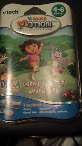 Vtech-V-Smile-v-Motion-Dora-039-s-Fix-It-adventure-Ages-3-5-Years-New-Sealed