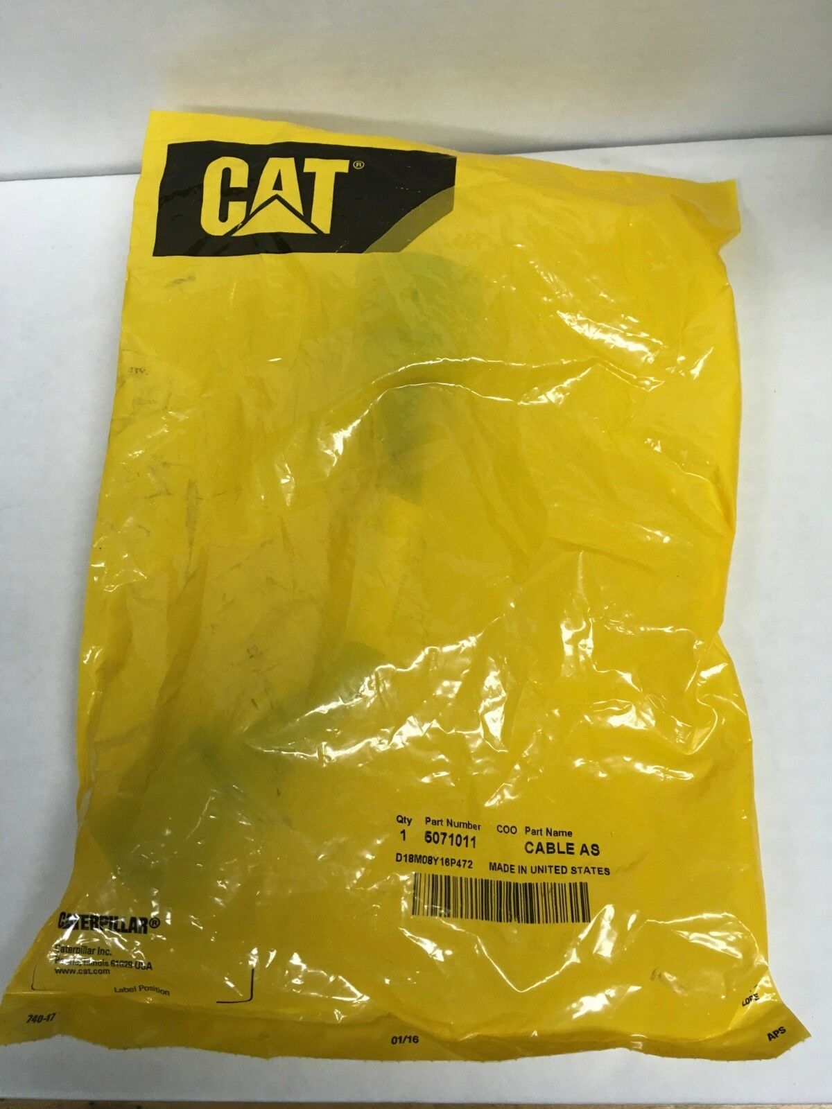 NEW Genuine OEM CAT Caterpillar 9 PIN Cable Adapter Truck Engine 507-1011
