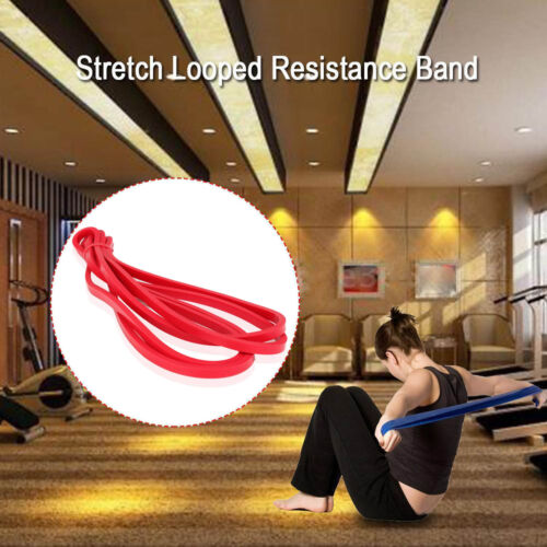 Physical Therapy Home Fitness Training Workout Rubber Resistance Band Loop Light