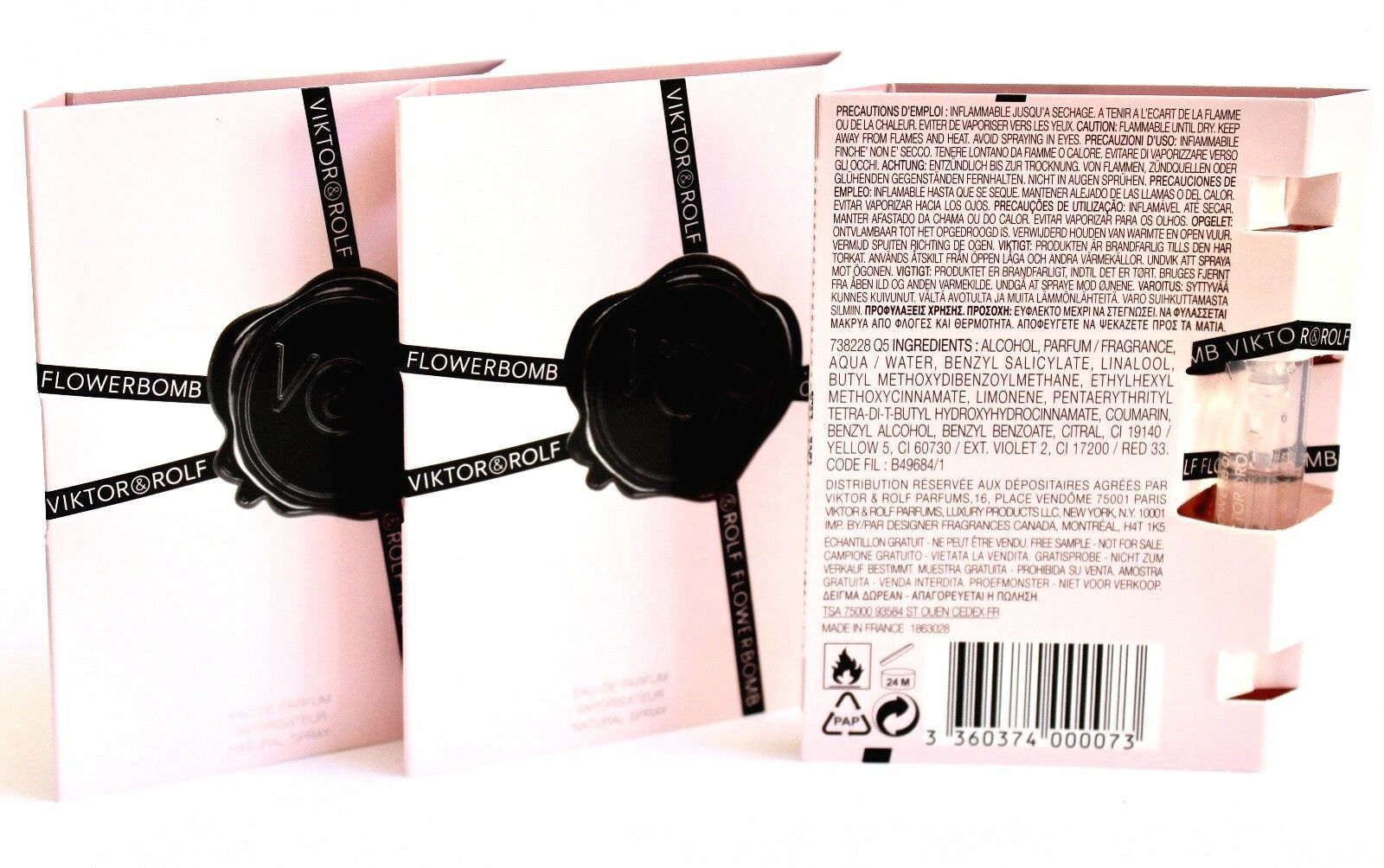 Viktor Rolf 3x Flowerbomb 1x Bonbon Edp Sample Spray Vials Ebay