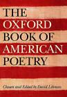The Oxford Book of American Poetry by David Lehman (Hardback, 2006)
