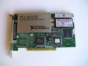 National Instruments PCI-6032E NI DAQ Card, 16 bit Analog Input, Multifunction