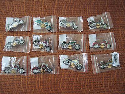 Complete Set Of 12 Hard Rock 2006 Bike - Motorcycle Series Pins On Line Store