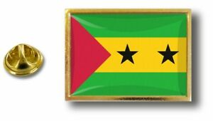 Zielsetzung Anstecknadel Pin Abzeichen Metall Mit Zange Papillon Flagge Sao Tomé Principe Anstecknadeln Ab 1945
