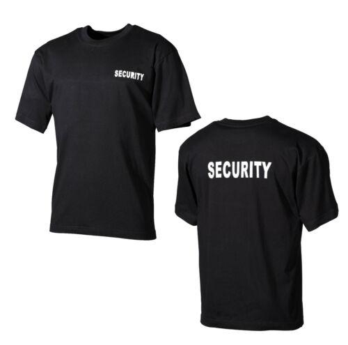 Nouveau Security T-shirt manches mi-longues manches courtes service de sécurité noir s-4xl