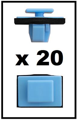 20 x panel de moldeo clips laterales y Recortar Umbral Sujetador Para Hyundai y Kia