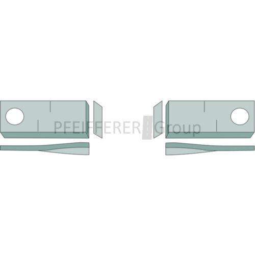 Klingen 25 Stk Kreiselmäher 105x48 mm Form 10 links f CLAAS