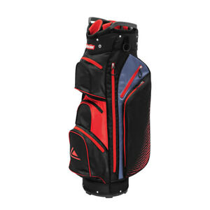 Longridge Executive Golf Cart Bag 15 Way Divider Black Red