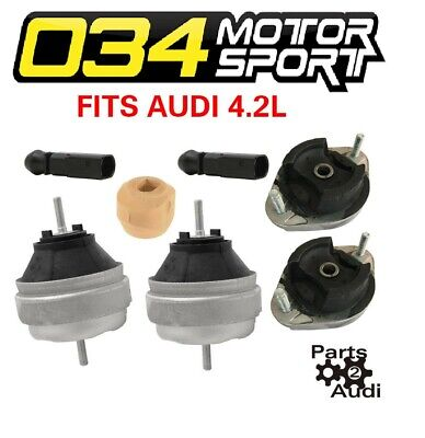 For Audi RS4 S4 04-09 Set of Left /& Right Engine Mounts w// Bypass Connectors 034