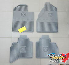 2006-2008 Dodge Ram 1500-3500 Quad Cab Rubber Slush Floor Mats Mopar OEM