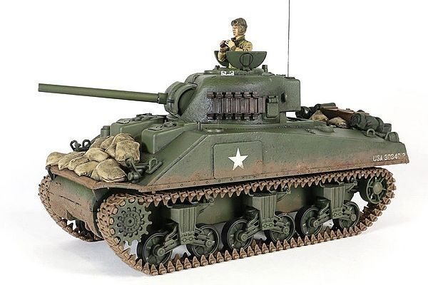 US. Sherman M4A3 - 1/24 RC Tank with Digital Sound - UN372014