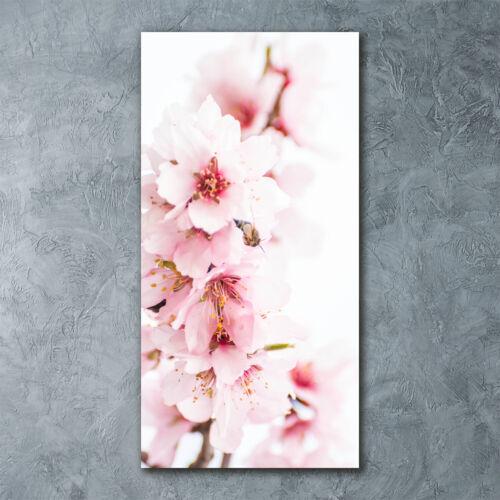 Wandbild Druck auf Plexiglas® Acryl Hochformat 60x120 Mandelblüten