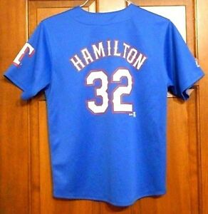 low priced 7dc6a 67584 Details about Vintage Josh Hamilton #32 Texas Rangers Jersey by Majestic,  Youth Large (14/16)