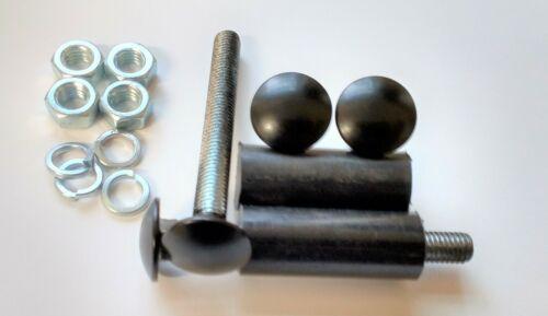 Noir Pare-chocs Boulons pour Escort MKI//MKII etc avec entretoises-Lot de 4 Boulons