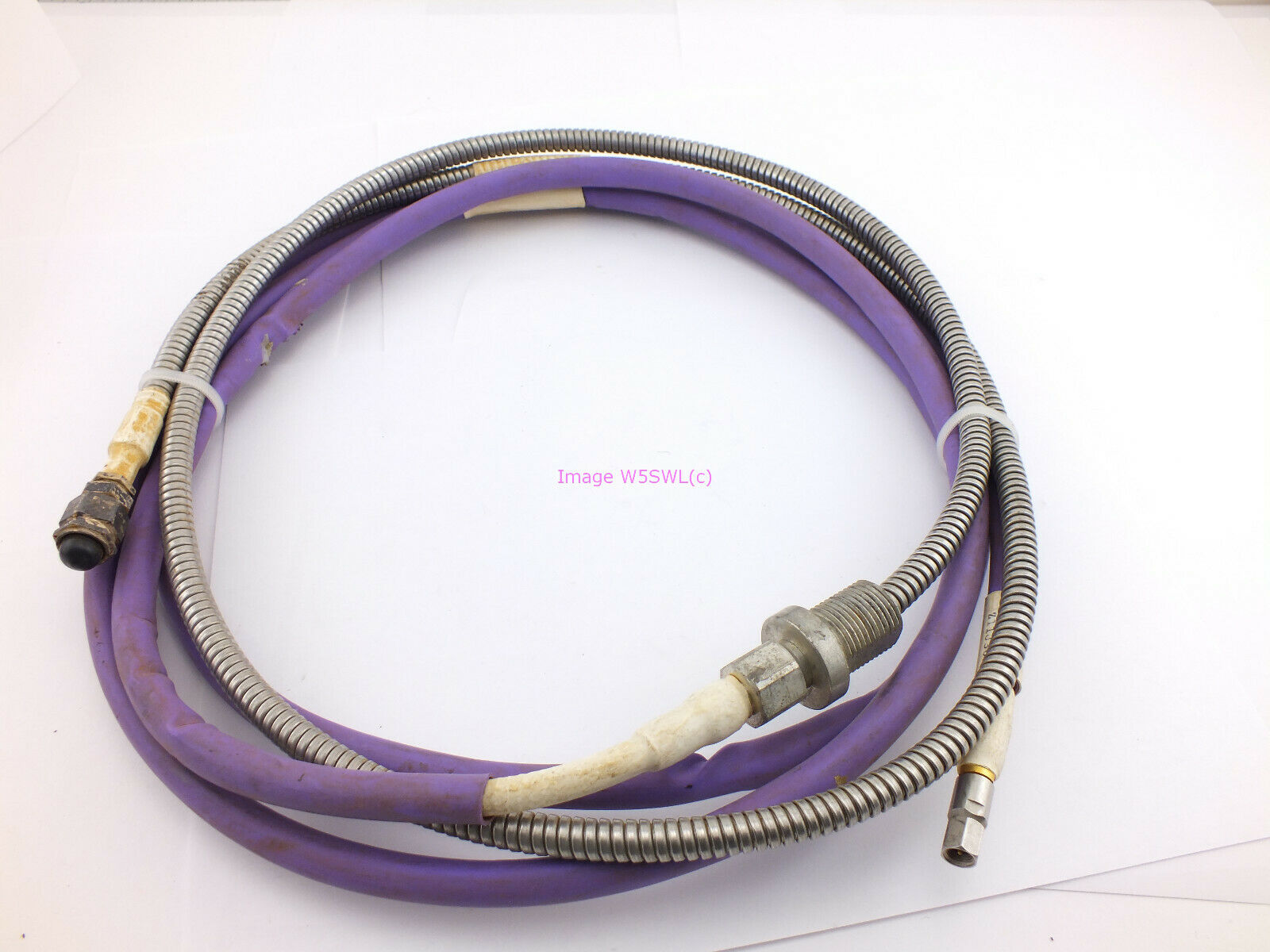 davefant Armored Flex Jacketed TNC Male to SMA Male Coax Patch Cable Jumper (Bin87)