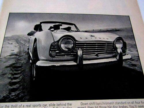 "1963 Triumph TR4 Takes More Than Wire Wheels Original Print Ad-8.5 x 11 /"""