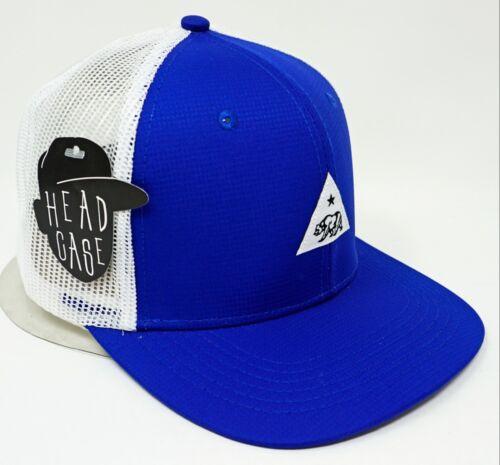 California Republic Snapback Cap Cali Triangle Mesh Trucker Hat Royal White NWT